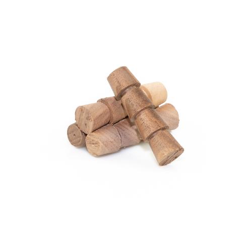Walnut Tapered Plugs - Box of 100