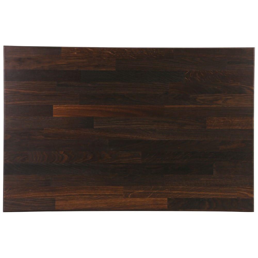 Block Style Worktop - Black Oak