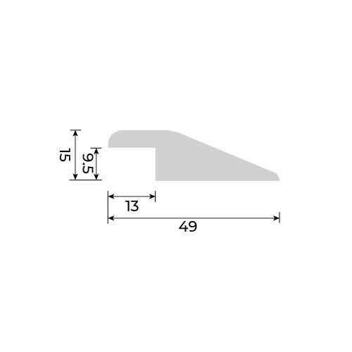 Solid European Oak - Reducer for Cork Essense Floors - 9.5mm - 900mm