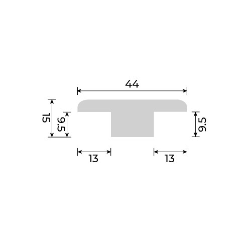 Solid European Oak - T Section for Cork Essence Floors - 900mm