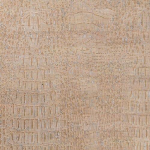 DesignCork Fabric - Croco White