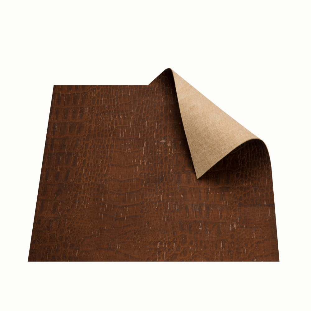 DesignCork Fabric - Croco Brown