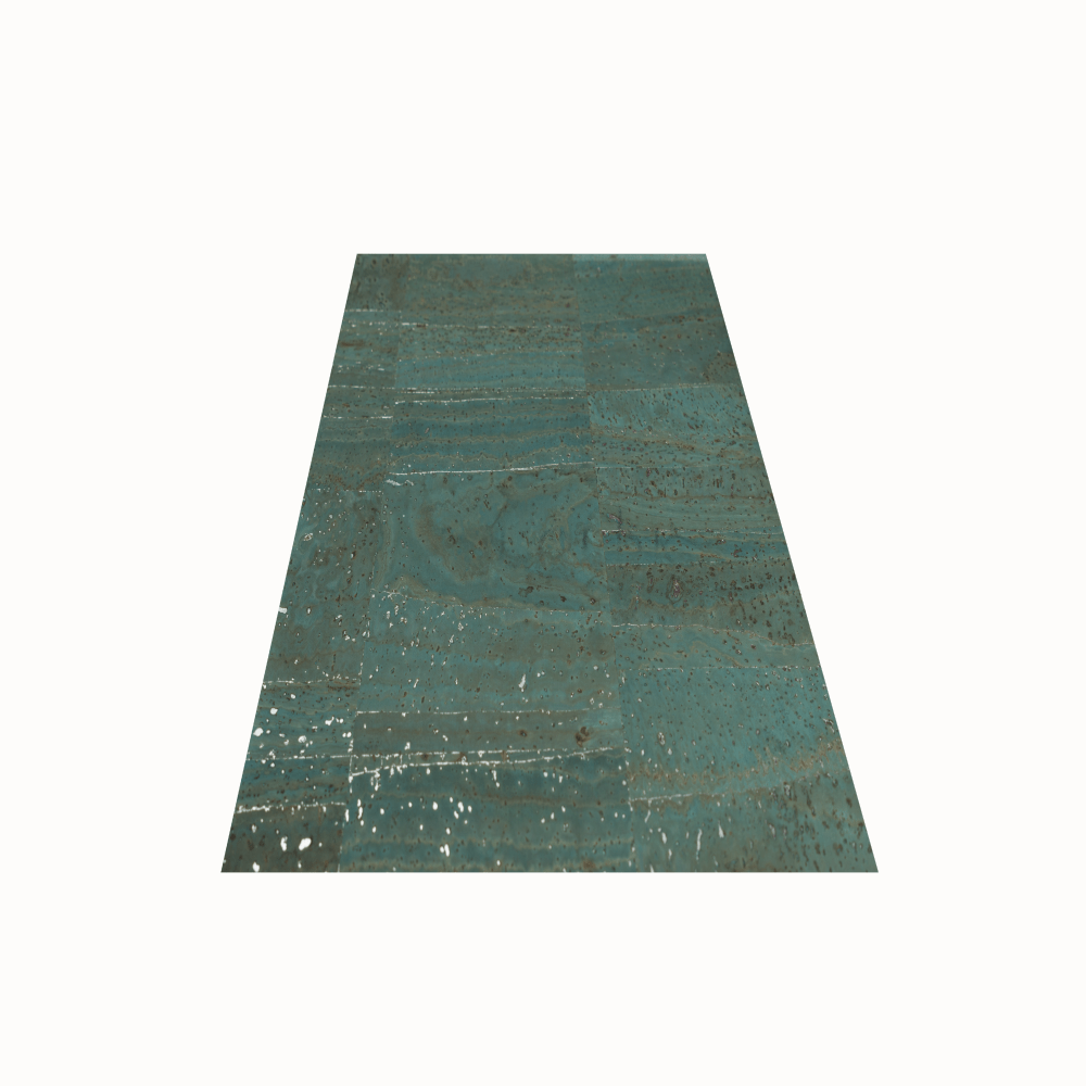 DesignCork Fabric - Blue & Silver