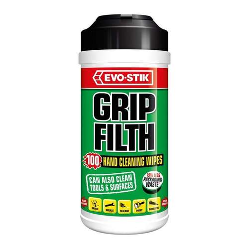 Bostik Grip Filth Hand Cleaning Wipes - Tub 100