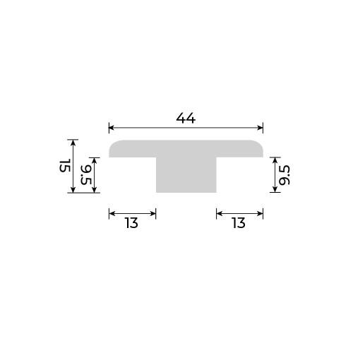 Solid European Oak - T Section for Cork Essence Floors - 2700mm