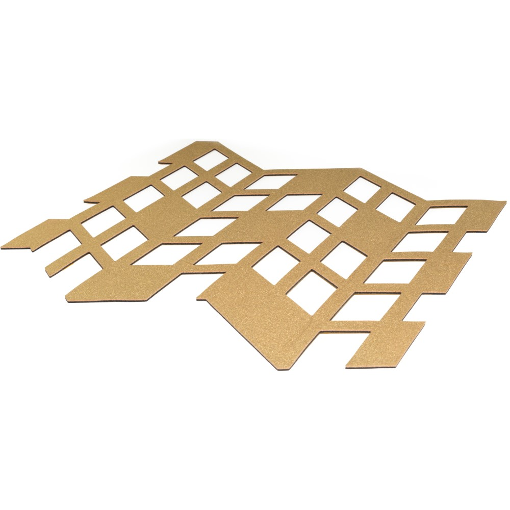 Muratto Pattern Tiles - Perspective - Gold