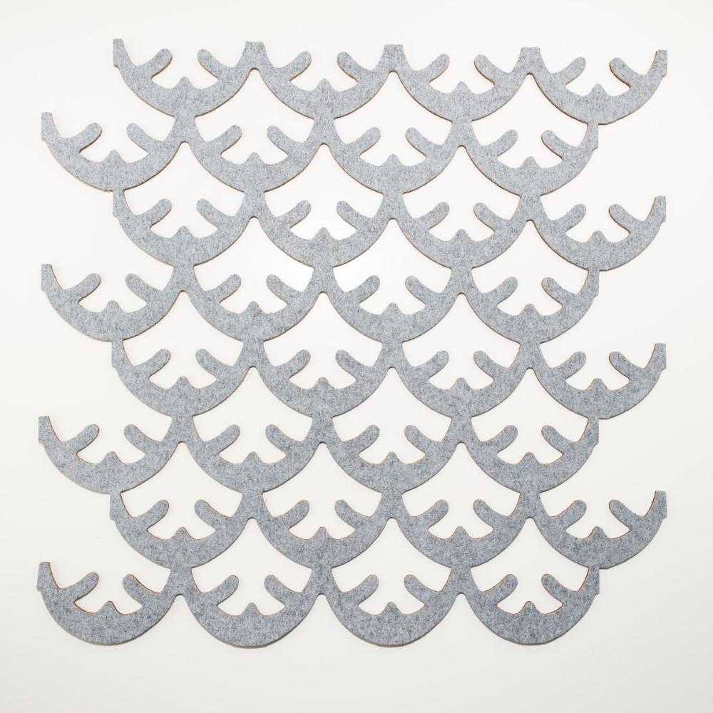 Muratto Pattern Tiles - Coral - Silver