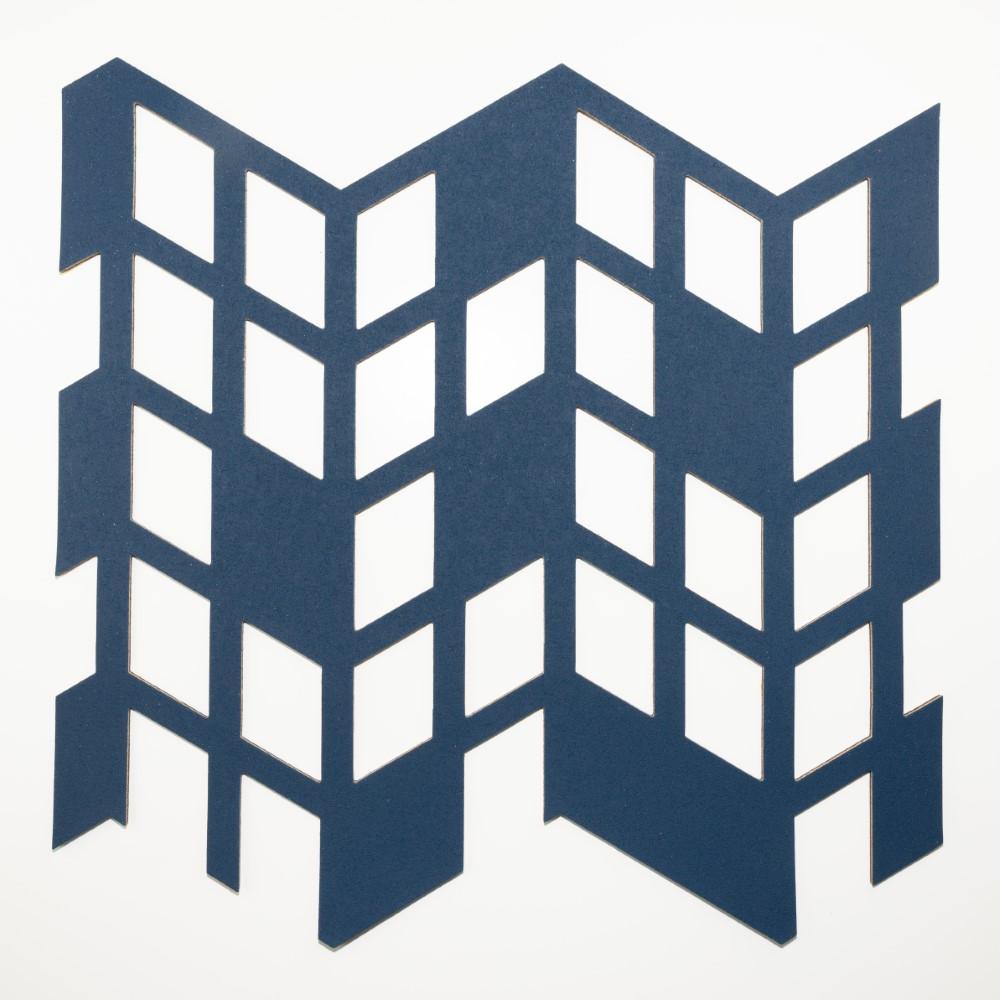 Muratto Pattern Tiles - Perspective - Deep Indigo