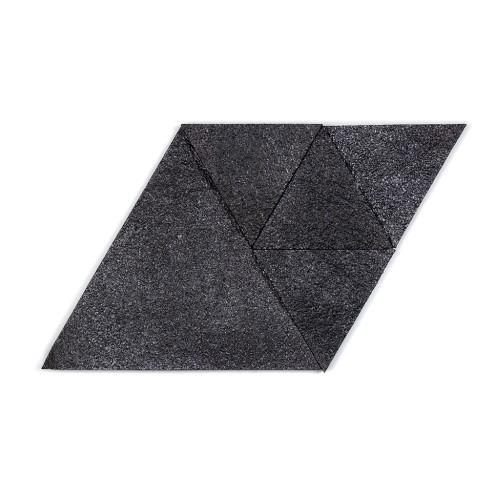 Muratto Korkstone - Triangle - Black Silver