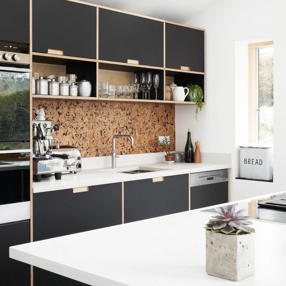 Puretree Cork Wall Tiles - Rustic Natural & Black - 600 x 300 x 3mm