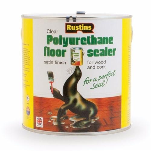 Rustins Polyurethane Floor Seal Satin - 2.5 Litre