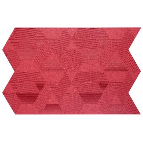 Muratto Organic Blocks - Strips - Geometric  - Red