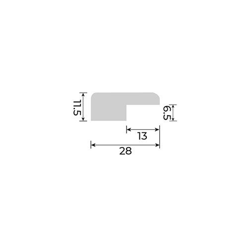 Solid European Oak - Non Reducer for Cork Inspire Floors - 2700mm