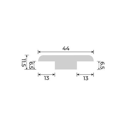 Solid European Oak - T Section for Cork Inspire Floors - 2700mm