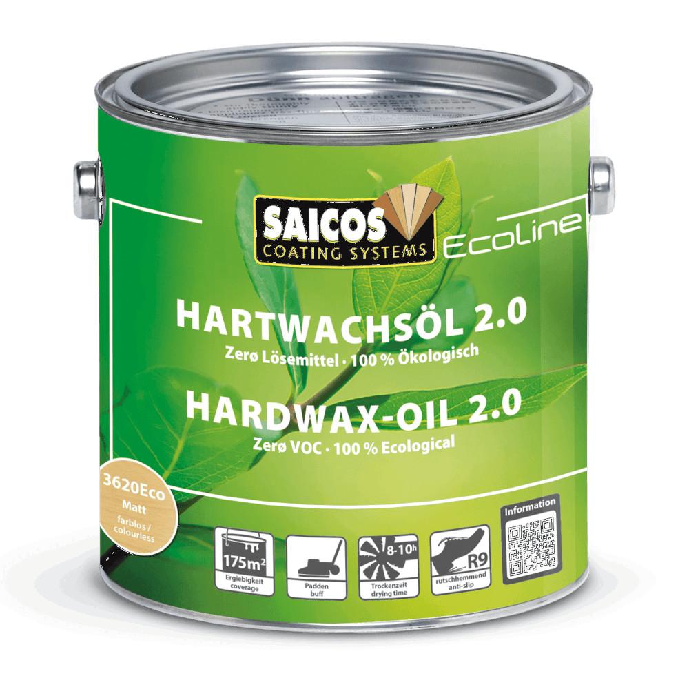 Saicos Ecoline Hardwax Oil 2.0 - Satin Matt (3620Eco) - 125ml